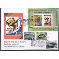 2010 Honduras FDC 1940-42+1943-44/B96 2010 World championship on football South Africa 15,00 €