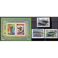 2010 Honduras Mi.1940-42+1943-44/B96 2010 World championship on football South Africa 10,00 €