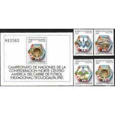 1981Honduras Mi.981-984+985/B341982 World championship on football of Spanien 3,50 €