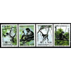 1990 Honduras Mi.1084-1087 Fauna 10,50