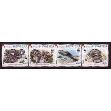 1999 Croatia (R.Hrvatska) Mi.500-503strip WWF / Reptiles 3,60 €
