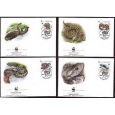 1999 Croatia (R.Hrvatska) Mi.500-503FDC WWF / Reptiles 4,50 €