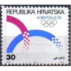 1992 Croatia (R.Hrvatska) Mi.188 1992 Olympiad Albertvele 0,80 €