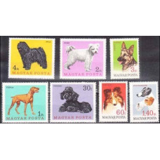 1967 Hungary Mi.2337-2343 Dogs 5,50 €