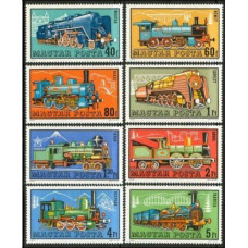 1972 Hungary Mi.2730-2737 Locomotives 7,50 €