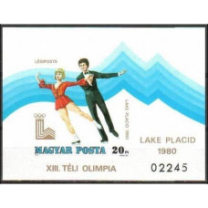 1979 Hungary Mi.3396/B140b 1980 Olympiad Lake Placid 40.00 €
