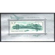 1964 Hungary Mi.2078/B45 Ships / Bridges 9,00