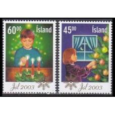 2003 Iceland Mi.1049-1050 Christmas 2,50 €