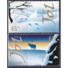 2004 Iceland Mi.1080-1081 Christmas 2,50 €