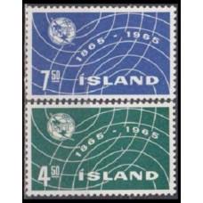 1965 Iceland Mi.390-391 ITU 0,70