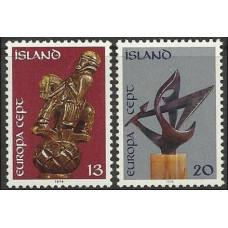 1974 Iceland Mi.489-490 Europa 1,00