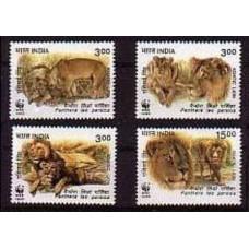 1999 India Mi.1704-1707 WWF / Cats 3.60 €
