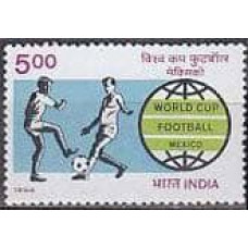 1986 India Michel 1058 1986 World championship on football of Mexico 7.00 €
