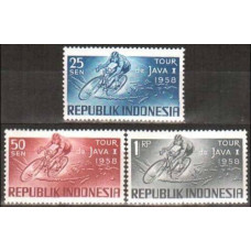 1958 Indonesia Michel 229-231 Bicycle race 2.80 €