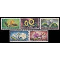 1957 Indonesia Mi.205-209 Flowers 9,00 €