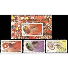 1997 Indonesia Mi.1695-97+B120 Precious stones 5,00 €