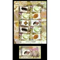 2000 Indonesia Mi.1992KL+B158 Precious stones 33,00 €