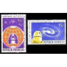 1968 Indonesia Mi.616-617 Observatory / Barred Spiral Galaxy 1,50 €