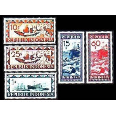 1949 Indonesia Local Mi.91-95 Planes 7,90 €