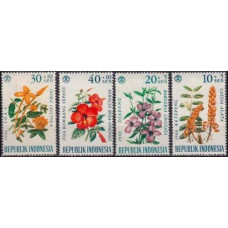 1966 Indonesia Mi.503-506* Flowers 4,80 €