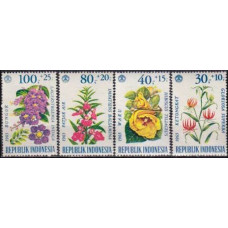 1965 Indonesia Mi.499-502* Flowers 4,80 €