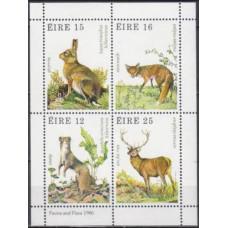 1980 Ireland (EIRE) Mi.421-424/B3 Fauna 4,00 €