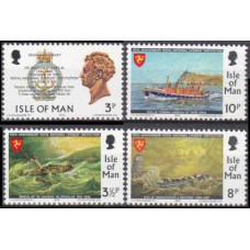 1974 Isle of Man Mi.36-39 Ships with sails 1,30 €