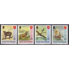 1978 Isle of Man Mi.133-136 Fauna and flora 6,00 €