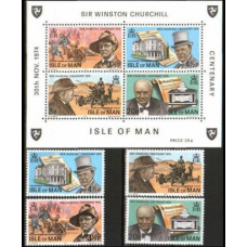 1974 Isle of Man Mi.48-51+B1** Churchill 2.40 €