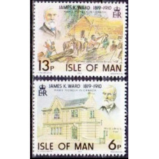 1978 Isle of Man Mi.129-130 James K, Ward 0,60 €