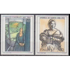 1986 Italy Mi.1996-1997 Paintings 3,50 €
