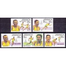 1980 Jamaica Mi.487-491 1980 Olympic Moscow 3,50 €