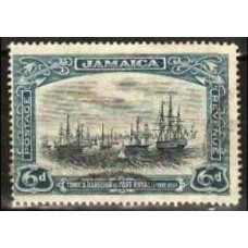 1922 Jamaica Mi.100* Ships with sails 14.00