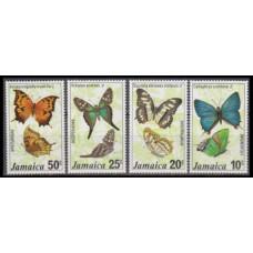 1975 Jamaica Mi.398-401 Butterflies 11,00