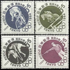 1963 Japan Mi.846-49 1964 Olympiad Tokio 2.00 €