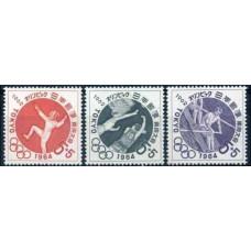 1962 Japan Mi.807-09 1964 Olympiad Tokio 2.00 €