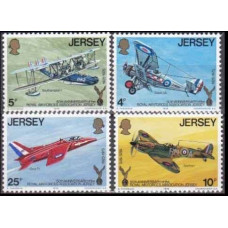 1975 Jersey Mi.127-130 Planes 1,50 €