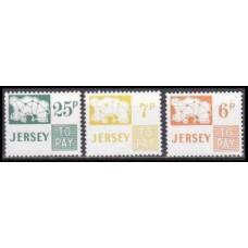 1974 Jersey Mi.P15-17 1,30 €
