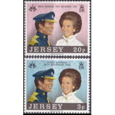 1973 Jersey Mi.89-90 Princess Anne 1,40 €