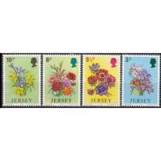 1974 Jersey Mi.95-98 Flowers 1,80 €