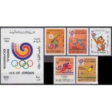 1988 Jordan Mi.1406-10+B60b 1988 Olympiad Seoul 20,50