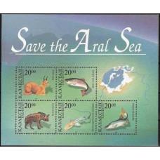 1996 Kazakstan Michel 118-22/B4 Fauna 5.50 €