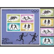 1984 Kenya Michel 292-295+292-295/B23b 1984 Olympiad Los Angeles 15.50 €