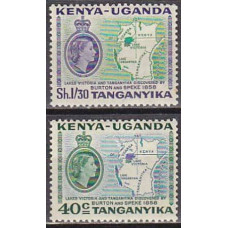 1958 Kenya,Uganda,Tanganyika Michel 106-107** Elizabet II 0.80 €