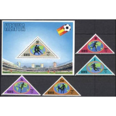 1982 Kenya Michel 222-225+226/B18 1982 World championship on football of Spanien 22.50 ?