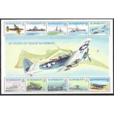 1993 Kiribati Mi.611-620/B20 Military engineering 9,00 €