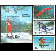 1983 Korea, North Mi.2387-89+2390/B149 1984 Olympiad Sarajevo 13.50 €