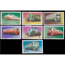 1976 Korea, North Mi.1555-60 Locomotives 8,00 €