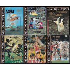 1983 Korea, North Mi.2414/B157-19/B162 1984 Olympiad Los Angeles 50,00 €