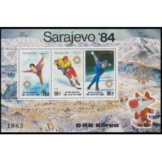 1983 Korea, North Mi.2391-93/B150 1984 Olympiad Sarajevo 17,00